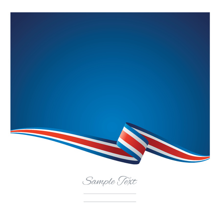 Illustration pour Abstract color background Costa Rica flag vector - image libre de droit