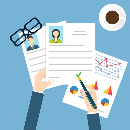 Illustration pour Job interview - image libre de droit