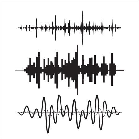 Illustration pour Vector sound waves set - image libre de droit