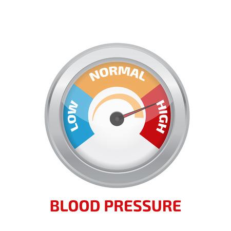 Illustration pour High blood pressure concept vector - image libre de droit
