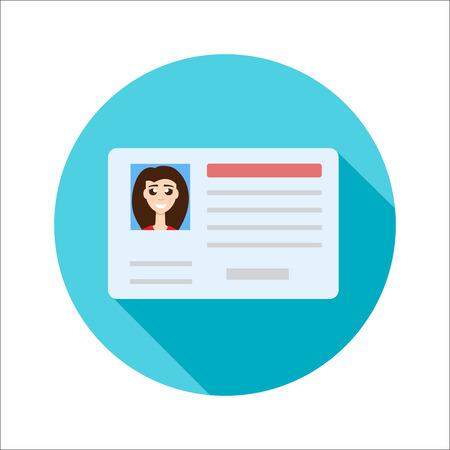 Illustration pour Car driver license woman - image libre de droit