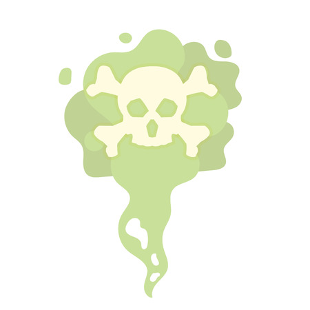 Illustrazione per Cartoon Bad smells, stench aroma. Toxic,  deadly gas. Vector illustration - Immagini Royalty Free