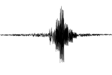Ilustración de Seismogram.Seismic, earthquake activity record. Vector illustration. - Imagen libre de derechos