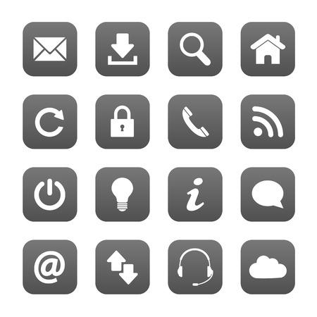 Illustration pour Grey web buttons - image libre de droit