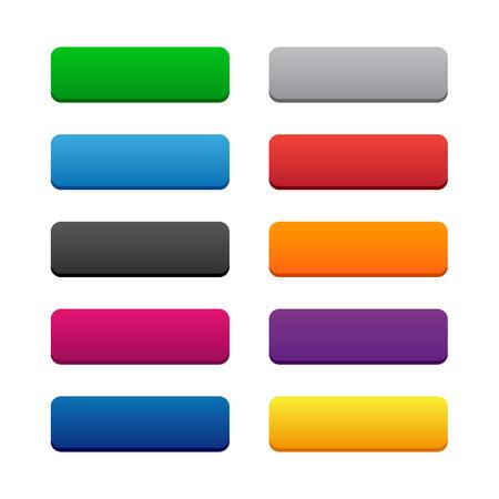 Ilustración de Blank web buttons - Imagen libre de derechos
