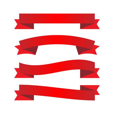 Illustration pour Red ribbons - image libre de droit
