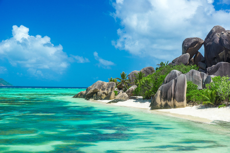Photo for Anse Source d'Argent - Beach on island La Digue in Seychelles - Royalty Free Image