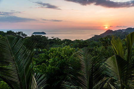 Photo for Sunset at Manuel Antonio, Costa Rica - tropical pacific coast - Royalty Free Image