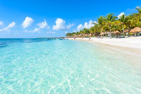 Photo for Akumal beach - paradise bay  Beach in Quintana Roo, Mexiko - caribbean coast - Royalty Free Image