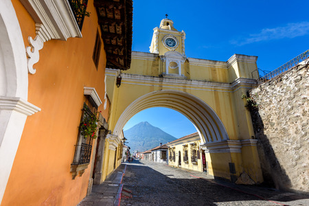 Photo for Arco de Santa Catalina - Antigua, old historic city in Guatemala - Royalty Free Image