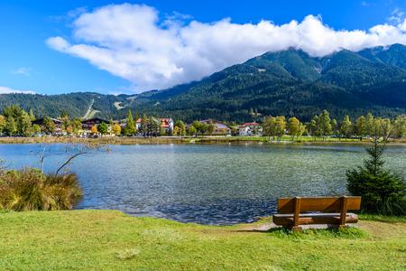 Foto de Lake Wildsee at Seefeld in Tirol, Austria - Europe - Imagen libre de derechos