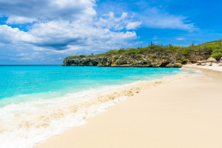 Photo for Grote Knip beach, Curacao, Netherlands Antilles - paradise beach on tropical caribbean island - Royalty Free Image