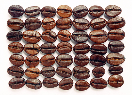 Photo for Coffee beans isolated over white background - Royalty Free Image
