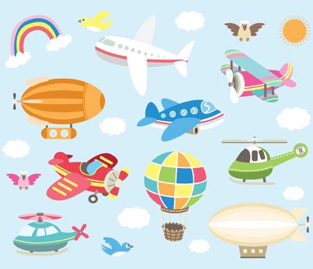 Illustration pour Air Transportation Elements - image libre de droit
