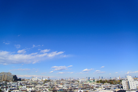 Photo for Blue sky and cityscape - Royalty Free Image