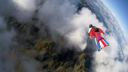Photo for Wingsuit skydiving - Royalty Free Image