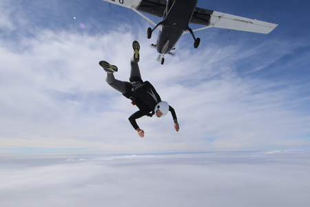 Photo pour Skydiving in Norway - image libre de droit
