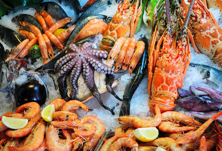 Photo pour Fresh seafood - image libre de droit
