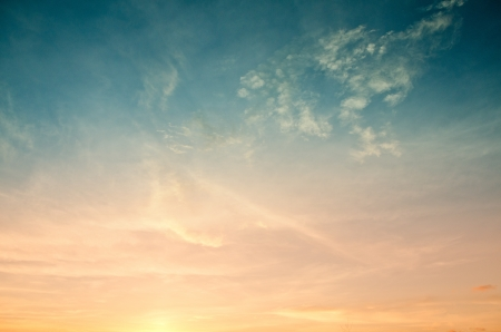 Colorful of sunset sky for web design and wallpaper background