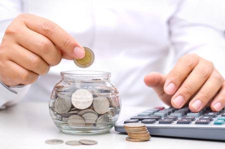 Photo pour Saving money concept - image libre de droit