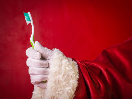 Foto de Advise of Santa Claus-brush your teeth well everyday! - Imagen libre de derechos