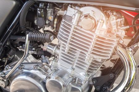 Foto de close up motorbike engine - Imagen libre de derechos