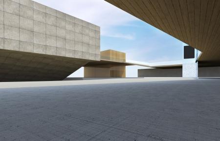 Foto de Modern building downtown, futuristic architecture. - Imagen libre de derechos