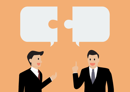 Illustration pour Two businessman in conversation - image libre de droit