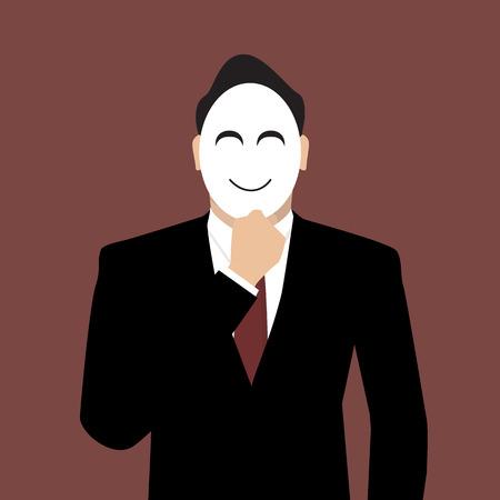 Ilustración de Businessman wearing a mask. - Imagen libre de derechos