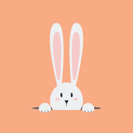 Illustration pour White easter rabbit. Easter Bunny - image libre de droit