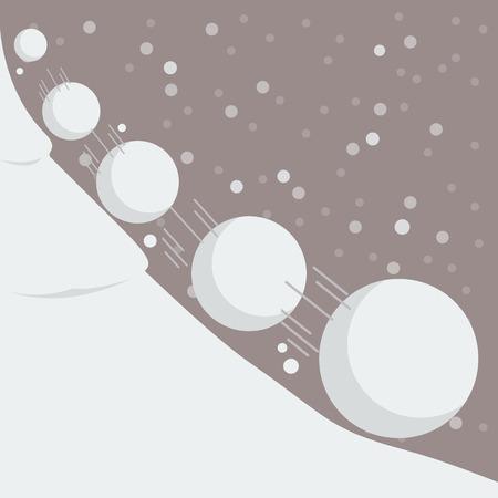 Ilustración de Snowball effect. Vector Illustration - Imagen libre de derechos