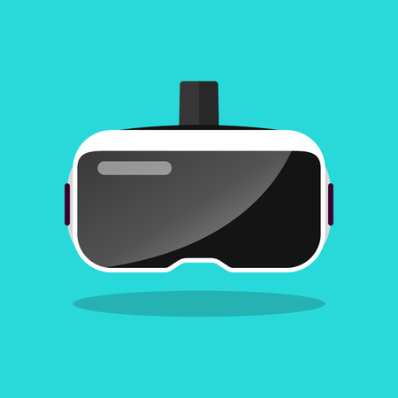 Illustration pour Virtual reality headset in flat style. Vector illustration - image libre de droit