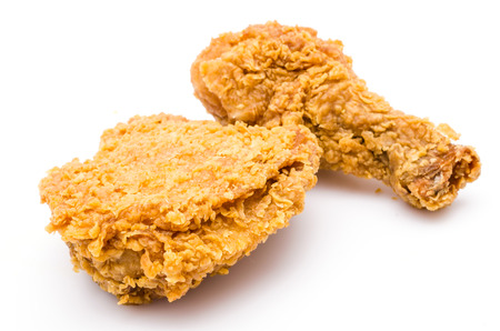 Photo for Fried chicken on white background - Royalty Free Image