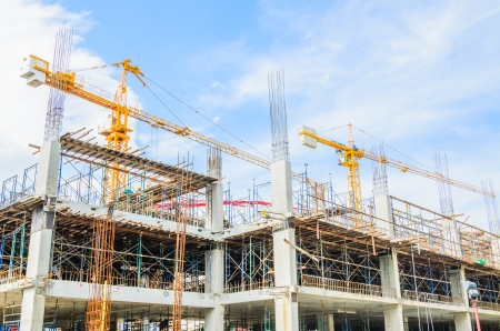 Photo for Construction crane building tower - Royalty Free Image