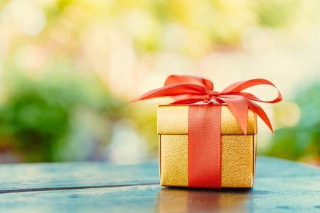 Foto de Christmas gift box - Vintage effect style pictures - Imagen libre de derechos