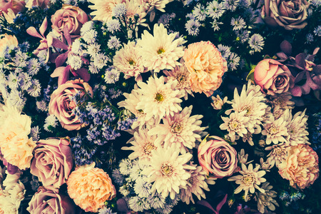 Photo pour Vintage old flower backgrounds - vintage effect style pictures - image libre de droit