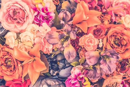 Foto de Vintage flower background - vintage filter - Imagen libre de derechos