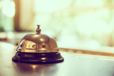 Photo for Hotel bell - vintage filter - Royalty Free Image