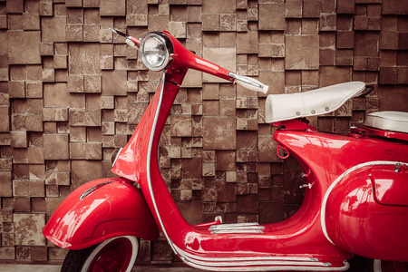 Photo for Red vintage motorcycle - vintage filter - Royalty Free Image