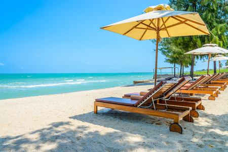 Photo for Bed beach on tropical beach - Royalty Free Image