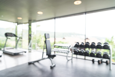 Foto per Abstract blur fitness gym background - Immagine Royalty Free