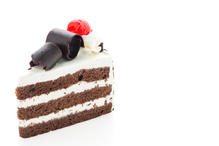 Photo pour Black forest cakes isolated on white background - image libre de droit