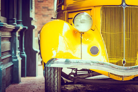 Foto per Headlight lamp  vintage car - vintage filter effect - Immagine Royalty Free