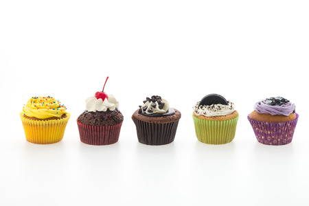 Photo for Cupcakes isolated on white background - Royalty Free Image