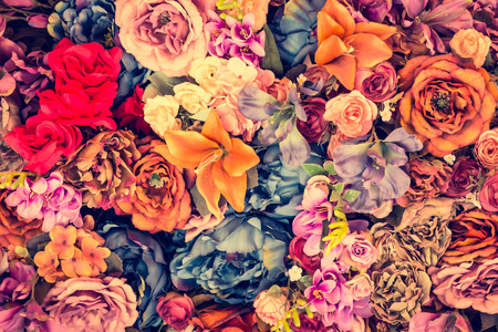 Photo for Beautiful Vintage flower background - vintage filter effect - Royalty Free Image
