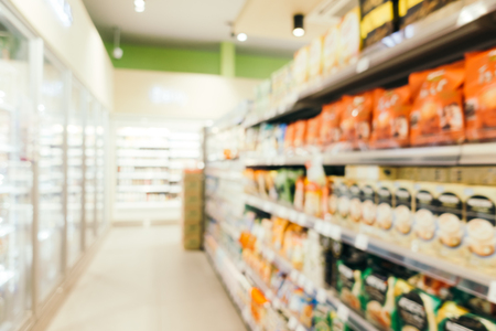 Photo for Abstract blur and defocused supermarket retails and shopping for background - Royalty Free Image