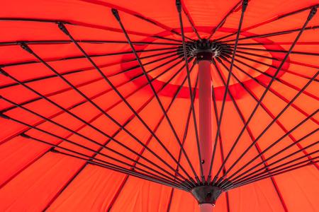 Foto de Red umbrella abstract textures and surface for background - Imagen libre de derechos