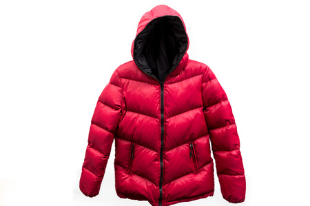 Photo for down jacket isolated on white background - Royalty Free Image