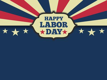 Illustration pour American labor day horizon background. Vector illustration aspect ratio 43 - image libre de droit