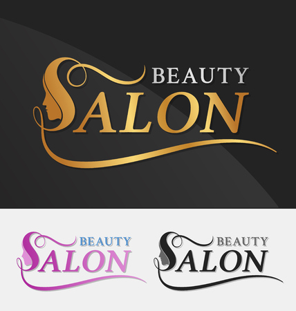 Illustration pour Beauty salon logo design with female face in negative space on letter S. Suitable for beauty salon, spa, massage, cosmetic and beauty concept with letter s. Vector illustration - image libre de droit